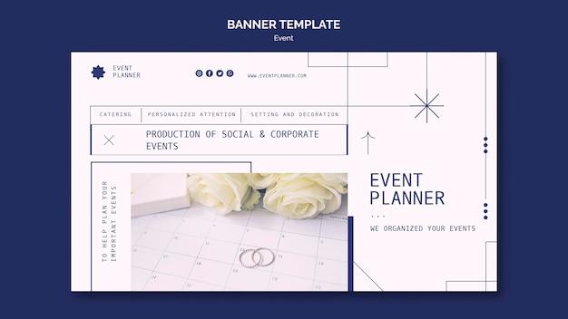 Bannersjabloon voor het plannen van sociale en zakelijke evenementen