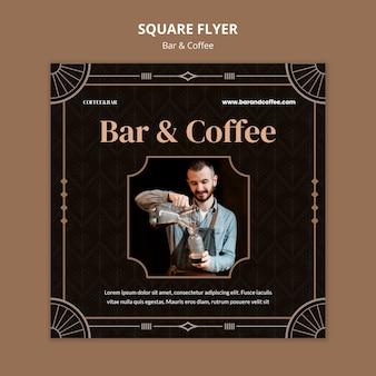 Bar en koffie afdruksjabloon