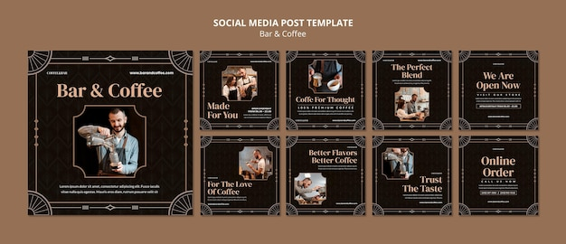 Bar en koffie social media posts