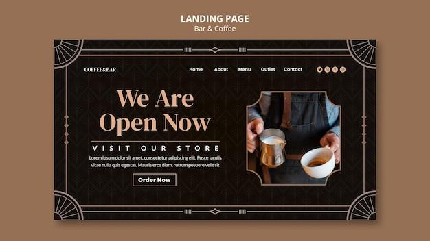 Bar en koffie websjabloon