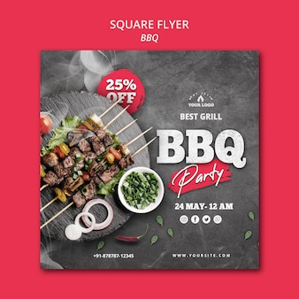 Barbecue flyer sjabloon