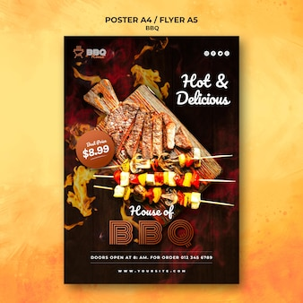 Barbecue poster sjabloon
