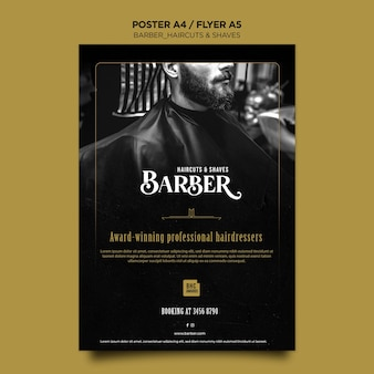 Barber shop advertentie poster sjabloon