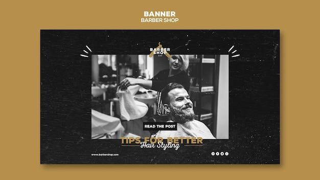 Barber shop banner sjabloon concept