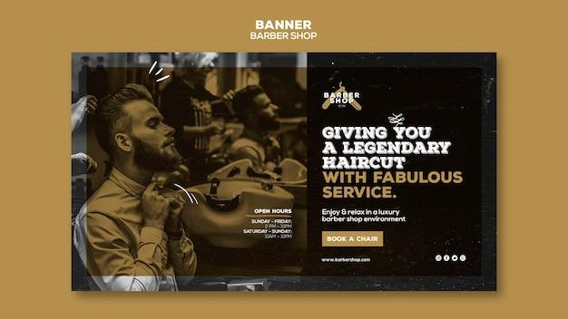 Barber shop banner sjabloonontwerp