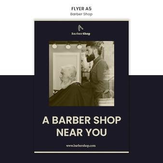 Barber shop flyer sjabloon met foto