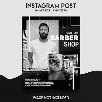Barber shop instagram postsjabloon