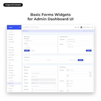 Basisformulier widgets ui voor admin dashboard