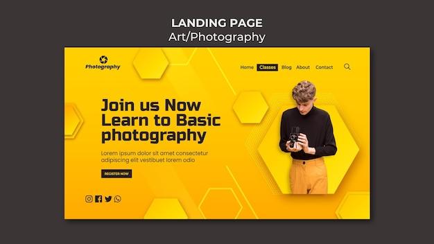 Basislandingspagina voor fotografie