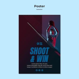Basketbal poster thema