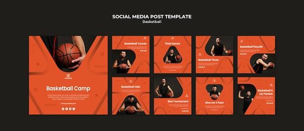 Basketbal posts op sociale media
