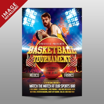 Basketbaltoernooi-flyer