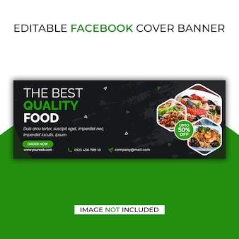 Bast food facebook sociale media sjabloon voor spandoek