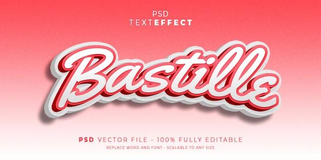 Bastille-tekst en lettertype-effect
