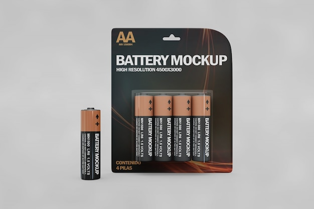 Batterij mockup