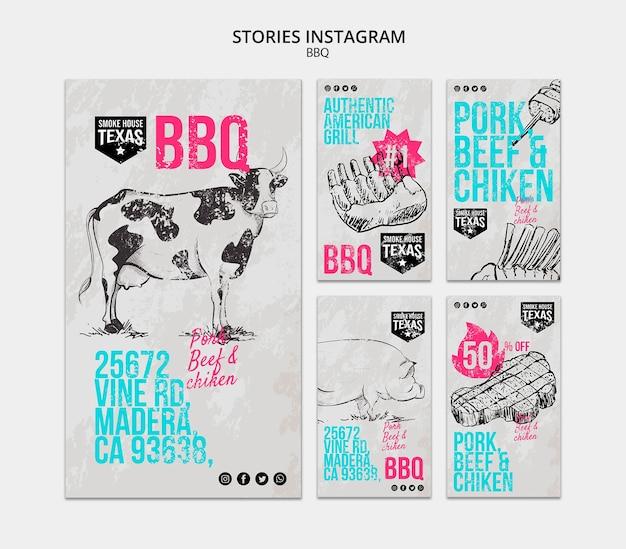 Bbq instagram verhalen collectie