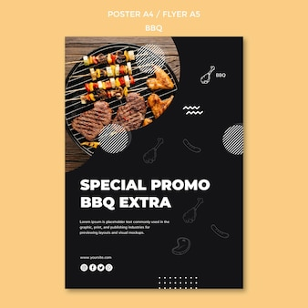 Bbq poster sjabloon thema