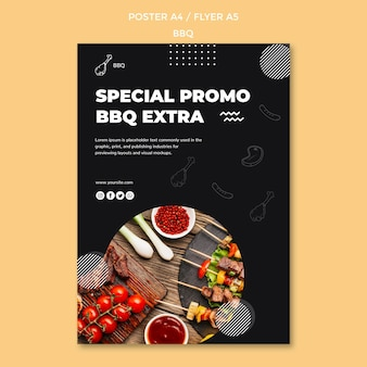 Bbq poster sjabloon
