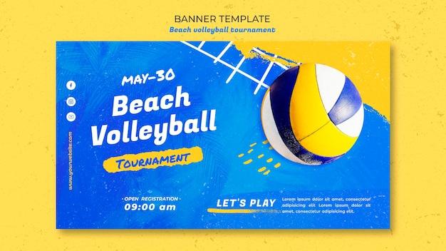 Beachvolleybal concept sjabloon voor spandoek