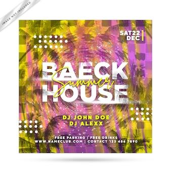 Beack huis flyer feest