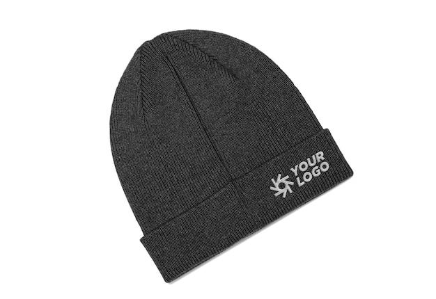 Beanie cap logo ontwerp mockup ontwerp
