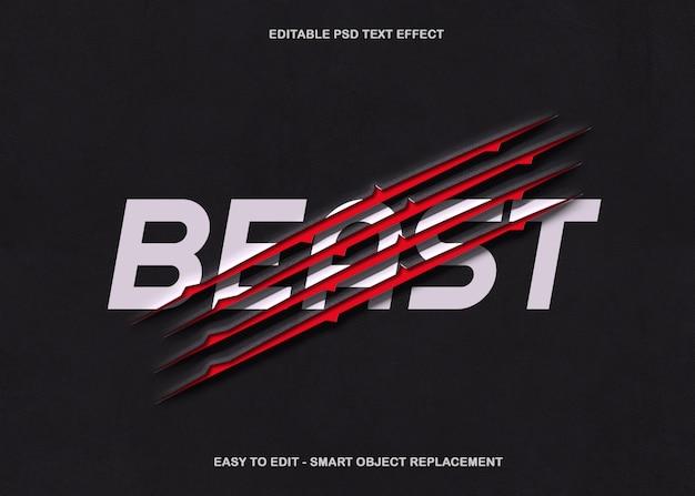 Beast claw teksteffect