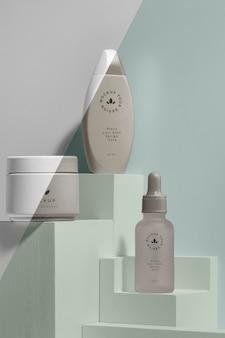 Beauty merk mock-up cosmetica assortiment