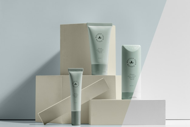 Beauty merk mock-up cosmetica samenstelling