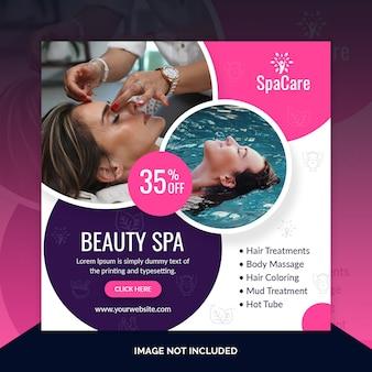 Beauty spa kortingsaanbieding post-sjabloon