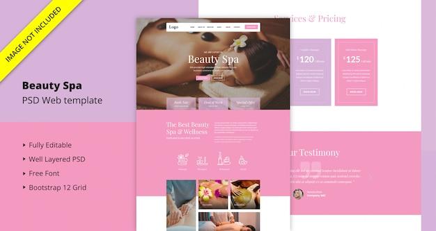 Beauty spa website sjabloon