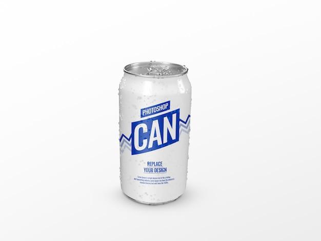 Beber lata de refresco