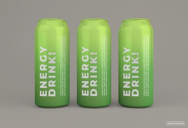 Bebida energética puede maqueta diseño aislado