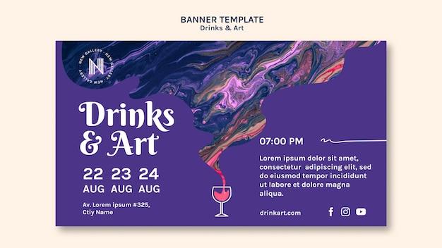 Bebidas y diseño de banner de arte