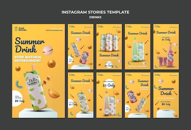 Bebidas de verano puro refresco historias de instagram