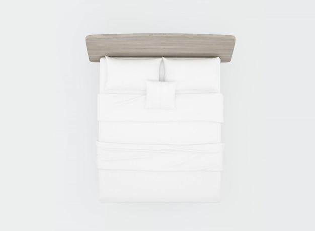 Bed met witte lakens