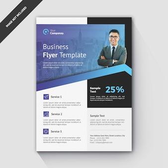 Bedrijf flyer template gradient blue