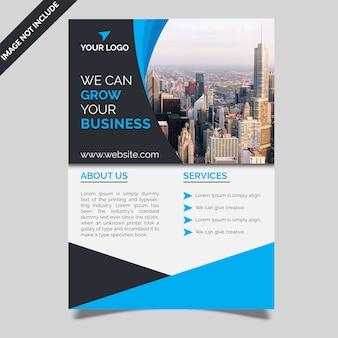 Bedrijf flyer template