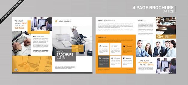 Bedrijf tweevoudige brochure