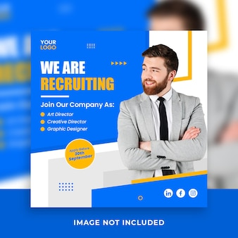 Bedrijf we huren werknemer baan social media banner postsjabloon