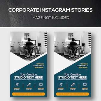 Bedrijfs instagram-verhalen