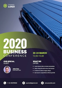 Bedrijfsaffiche van de zakelijke conferentie van 2020