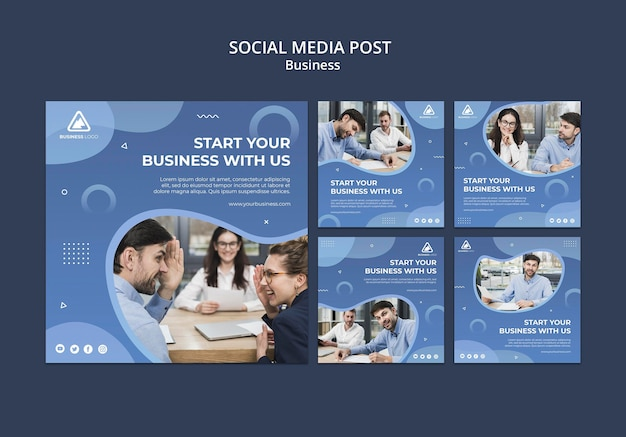 Bedrijfsconcept social media post