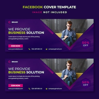 Bedrijfsoplossing facebook voorbladsjabloon