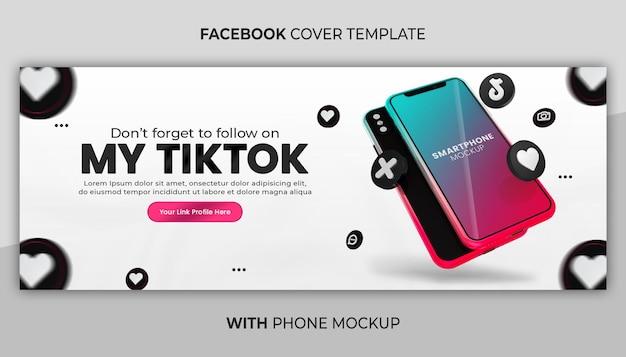 Bedrijfspaginapromotie met 3d render-telefoonmodel voor banner voor sociale media