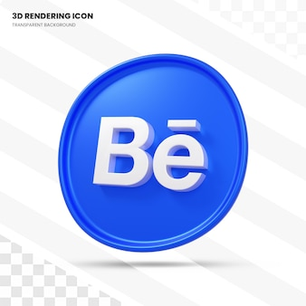 Behance 3d-rendering icoon