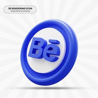Behance-pictogram in 3d-rendering