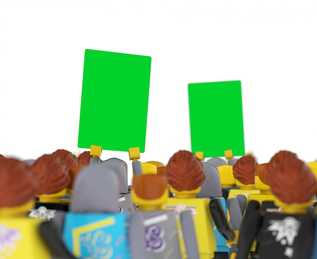 Behind shot banner psd mockup