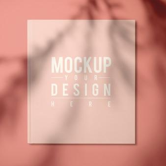 Beige leerboek cover ontwerp mockup