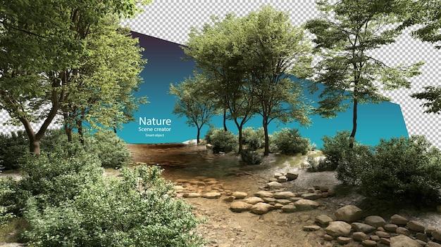 Beken en rivierplanten stroomomgeving stream
