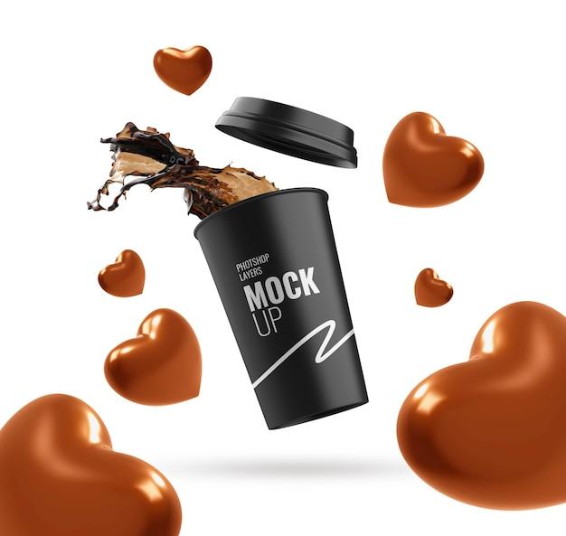 Beker splash reclame valentijn
